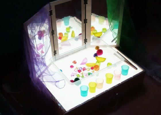 La mesa de luz como recurso pedagógico y creativo