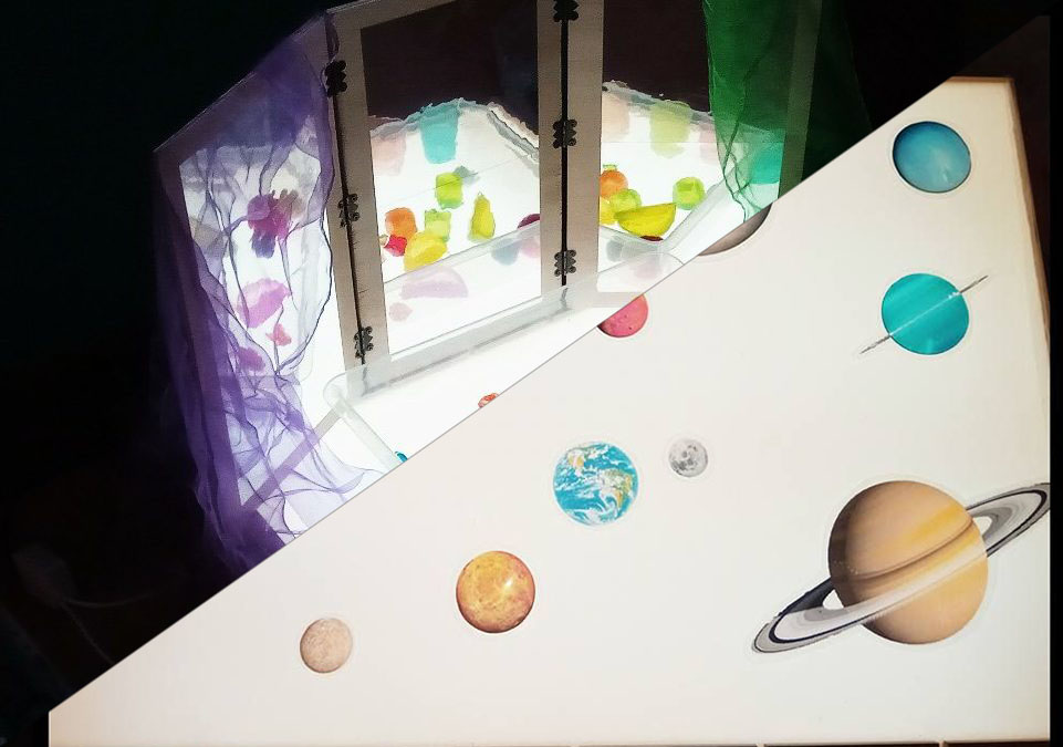 """Pack cursos: """"La caja de luz como recurso pedagógico y creativo"""" y """"Mesa de luz: Elaboración de material"""""""